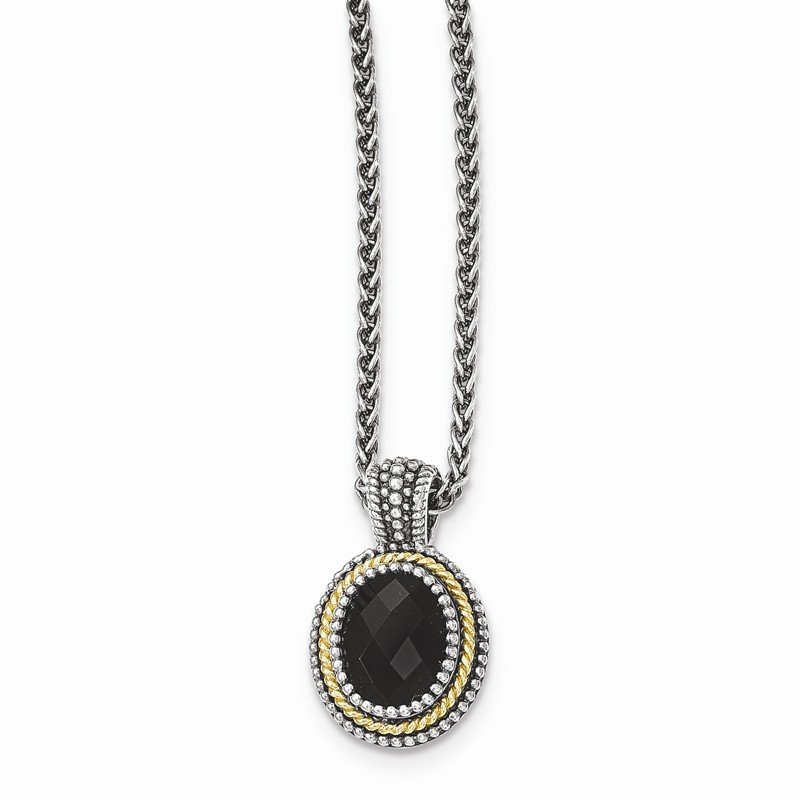 Shey Couture Sterling Silver w/14k Black Onyx Necklace