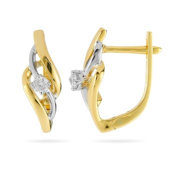 18K YG Diamond Fashion Earring