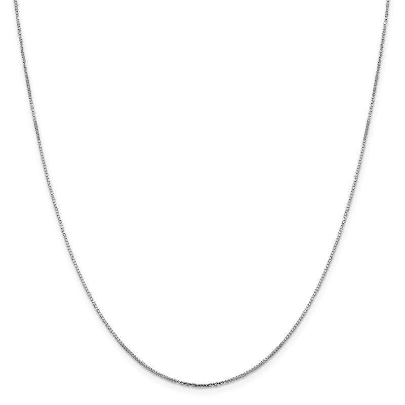 Leslie's Leslie's 14K White Gold 1mm Sparkle Octagonal Box Chain