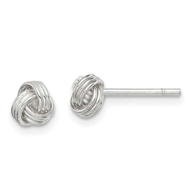 Quality Gold Sterling Silver Love Knot Post Earrings