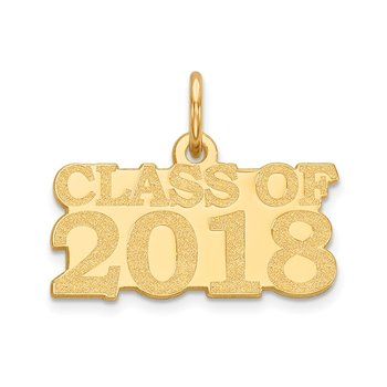 14k Class of 2018 Charm
