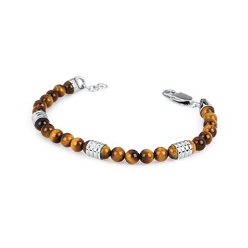 316L stainless steel and yellow tiger's eye stone