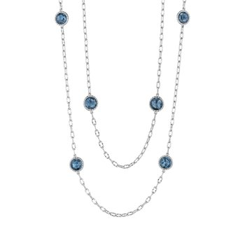 "38"" Raindrops Necklace featuring London Blue Topaz"