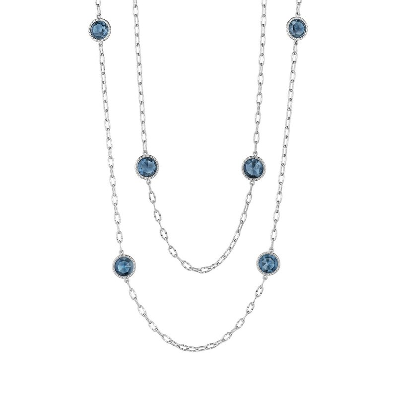 "Tacori Fashion 38"" Raindrops Necklace featuring London Blue Topaz"