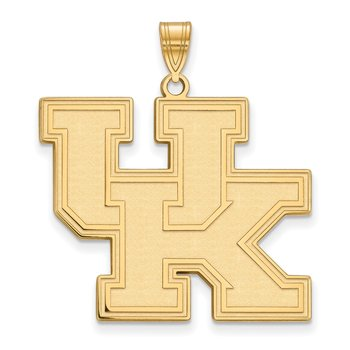 Gold-Plated Sterling Silver University of Kentucky NCAA Pendant