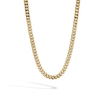 Classic Chain 6.5MM Curb Link Necklace in 18K Gold