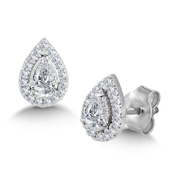 Diamond Star Pear-Shaped Earrings
