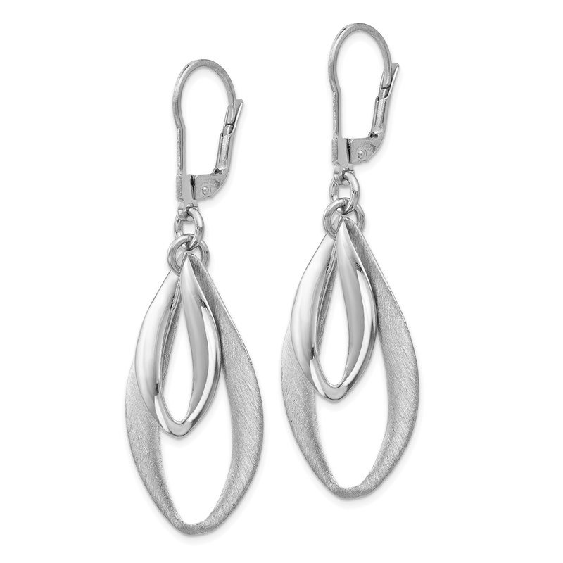 Leslie's Leslie's Sterling Silver Polished & Brushed Leverback Earrings