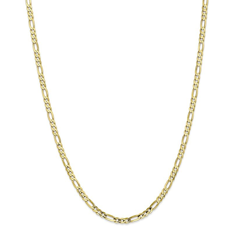 Quality Gold 10k 4mm Light Concave Figaro Chain