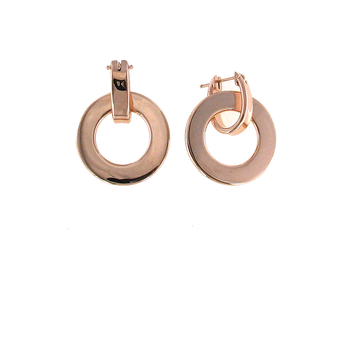 18KT ROSE GOLD LARGE ROUND EARRING