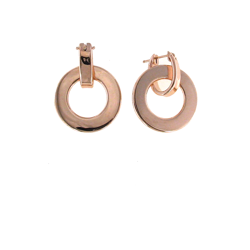 Roberto Coin 18Kt Rose Gold Large Round Earring