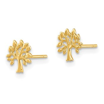 14K Tree Post Earrings