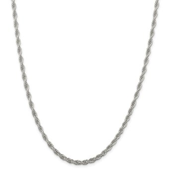 Sterling Silver 3.8mm Loose Rope Chain