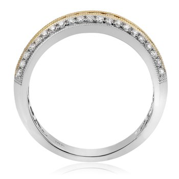 Layered Two Tone Diamond Band