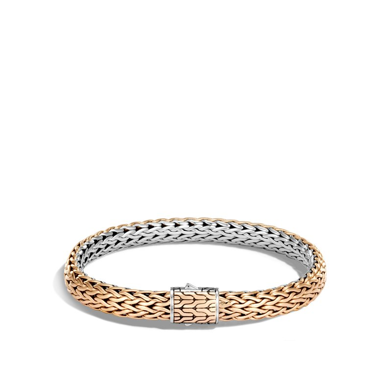 JOHN HARDY Classic Chain 7.5MM Reversible Bracelet in Silver and Bronze
