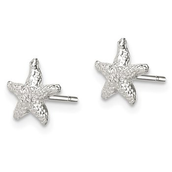 Sterling Silver Starfish Mini Earrings