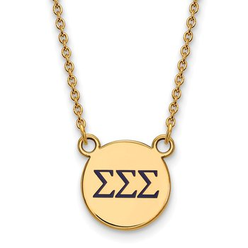 Gold-Plated Sterling Silver Sigma Sigma Sigma Greek Life Necklace