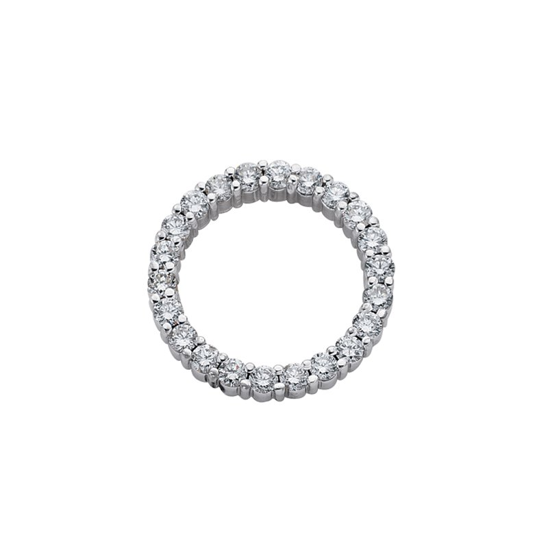 S. Kashi  & Sons White Gold Circle Diamond Pendant