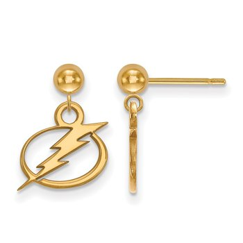 Gold Tampa Bay Lightning NHL Earrings