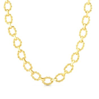 14K Gold Polished Twisted Link Chain