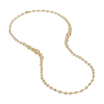 Africa Gold Graduated Double Wave Necklace