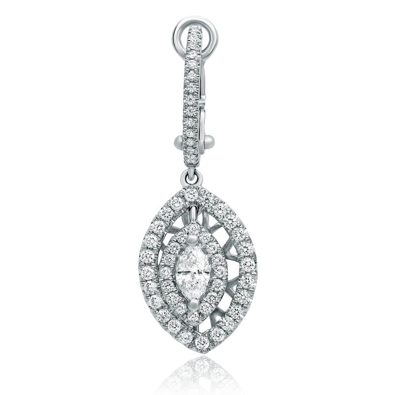 Roman & Jules Marquise Cut Diamond Drop Earrings