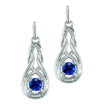 Silver Sapphire Earrings (Available In all BirthStones)