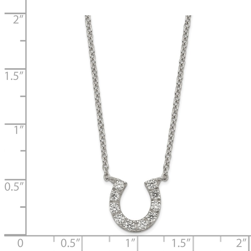 Mireval Sterling Silver Antiqued Horse in Horseshoe Charm on an Optional Charm Holder