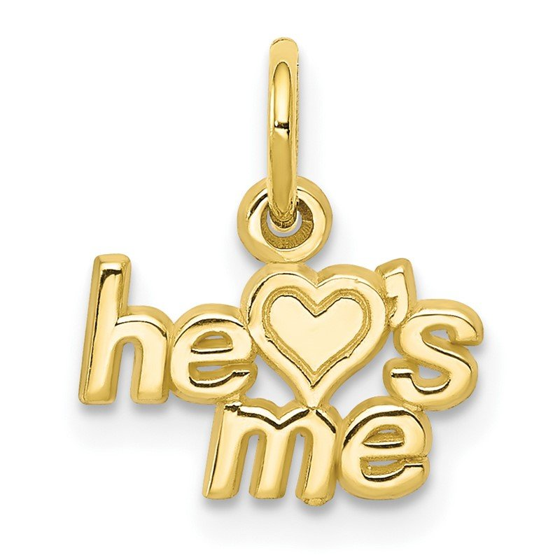 Arizona Diamond Center Collection 10K He LOVES ME Charm