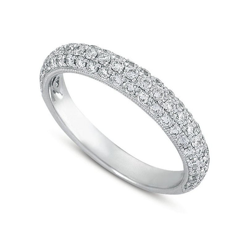 S. Kashi & Sons Bridal Platinum Pave Diamond Band