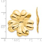 Lester Martin Online Collection 14k Polished Floral Earring Jackets