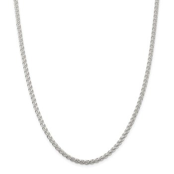 Sterling Silver 3mm Round Spiga Chain