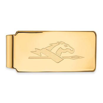Gold-Plated Sterling Silver Longwood University NCAA Money Clip