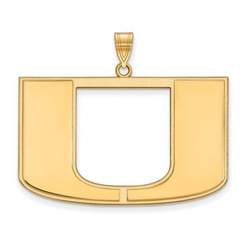 Gold University of Miami NCAA Pendant
