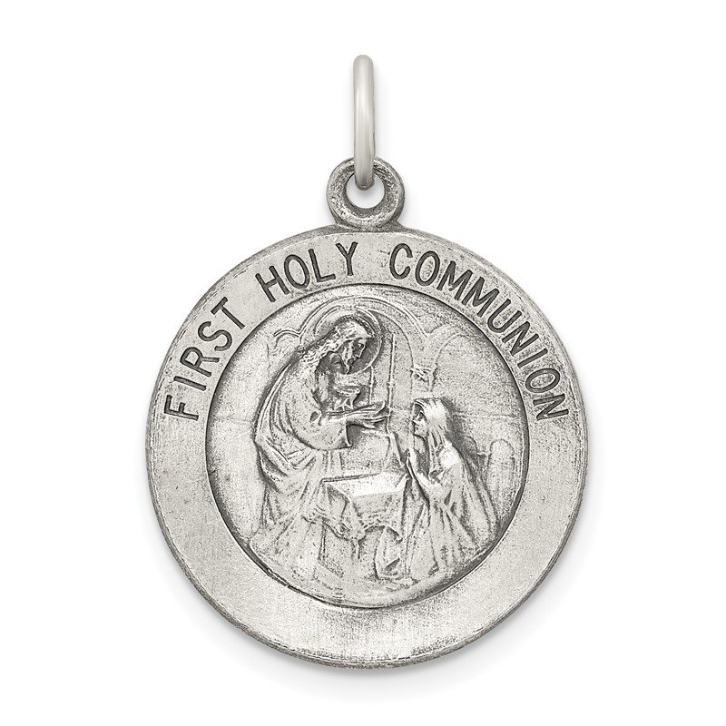 Quality Gold Sterling Silver Polished and Matte Finish Holy Communion Pendant