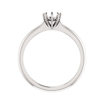 18K White 5.2 mm Round 8-Prong Engagement Ring Mounting
