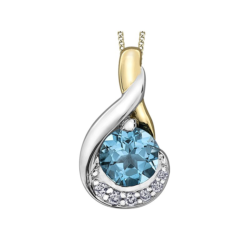 Timeless Beauty Blue Topaz Pendant