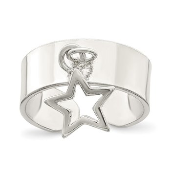 Sterling Silver Star Dangle Toe Ring