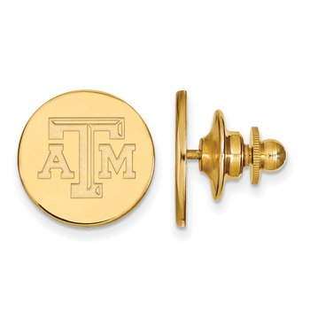 Gold-Plated Sterling Silver Texas A&M University NCAA Lapel Pin