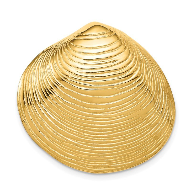 Quality Gold 14k Clam Shell Slide