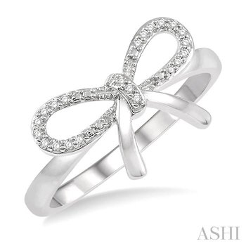 diamond bow tie ring