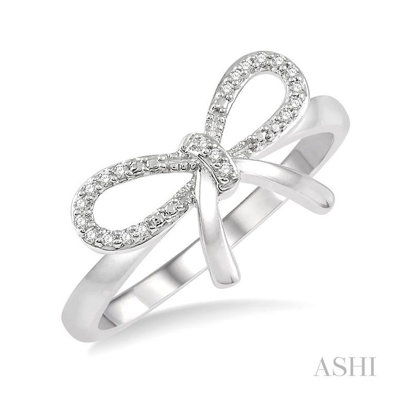 ASHI diamond bow tie ring