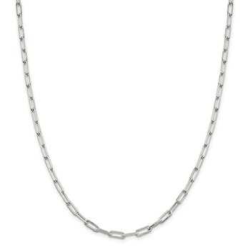 Sterling Silver 4.25mm Elongated Open Link Chain