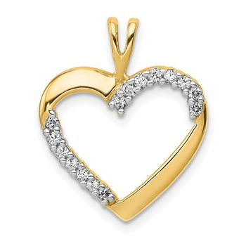 14k 1/6ct. Diamond Heart Pendant