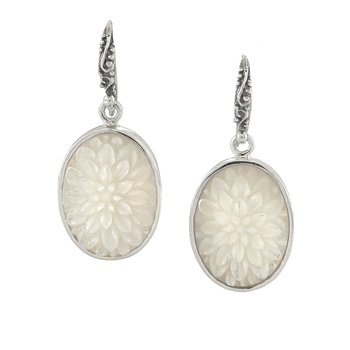 Mother of Pearl Oval Drop Earring
