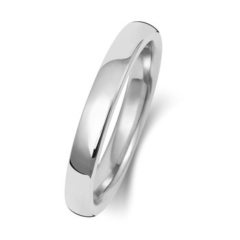 18Ct White Gold 2.5mm Soft Court Wedding Ring