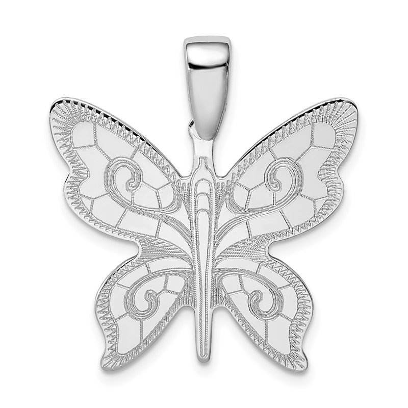 Quality Gold Sterling Silver Rhodium-plated Butterfly Pendant