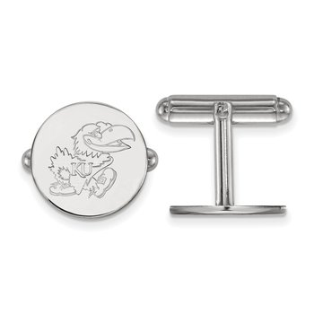 Sterling Silver University of Kansas NCAA Cuff Links