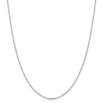 Sterling Silver 1.75mm Diamond-cut Cable Chain