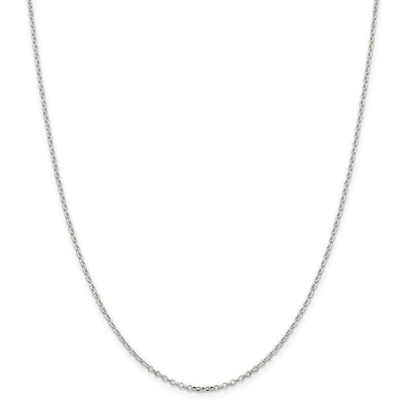 Quality Gold Sterling Silver 1.75mm Diamond-cut Cable Chain